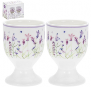 The Leonardo Collection Porcelán tojástartószett 2 db-os, 5 cm x 5 cm x 7 cm, Lavender